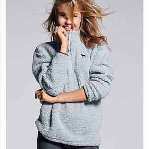 Victoria's Secret PINK Sherpa Quarter Zip Fleece